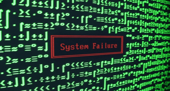 system failure screen