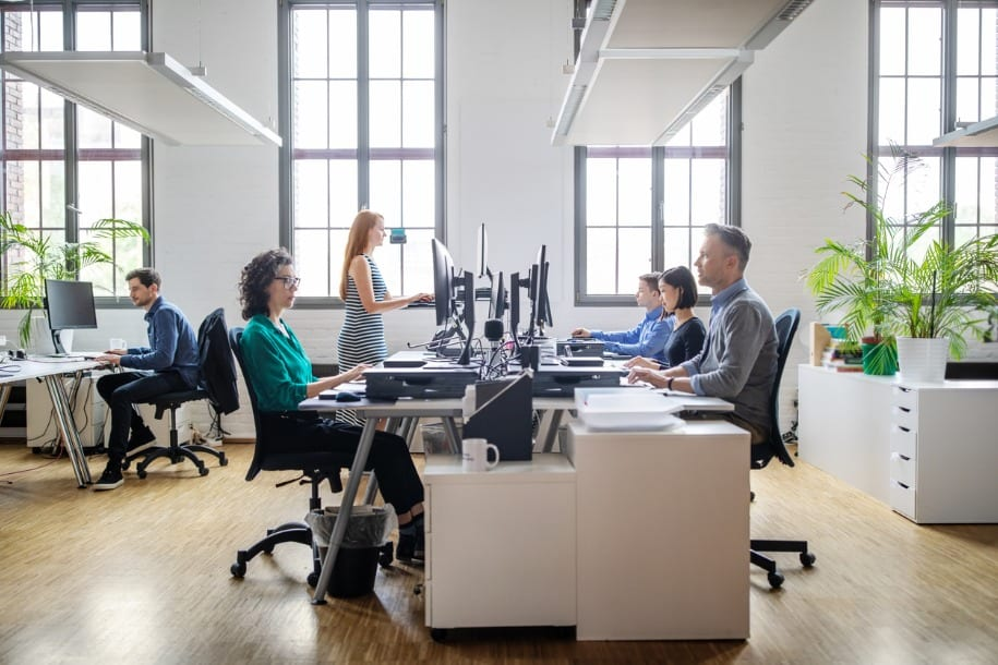 image of business people working in office