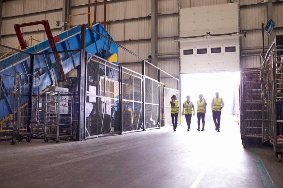 image of colleagues in warehouse