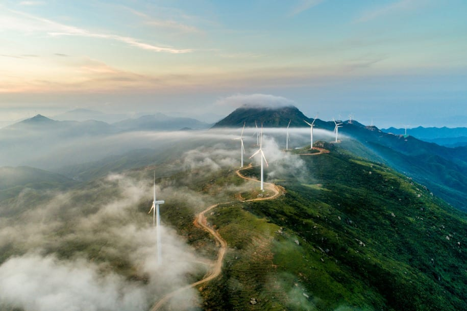 image of wind power turbines