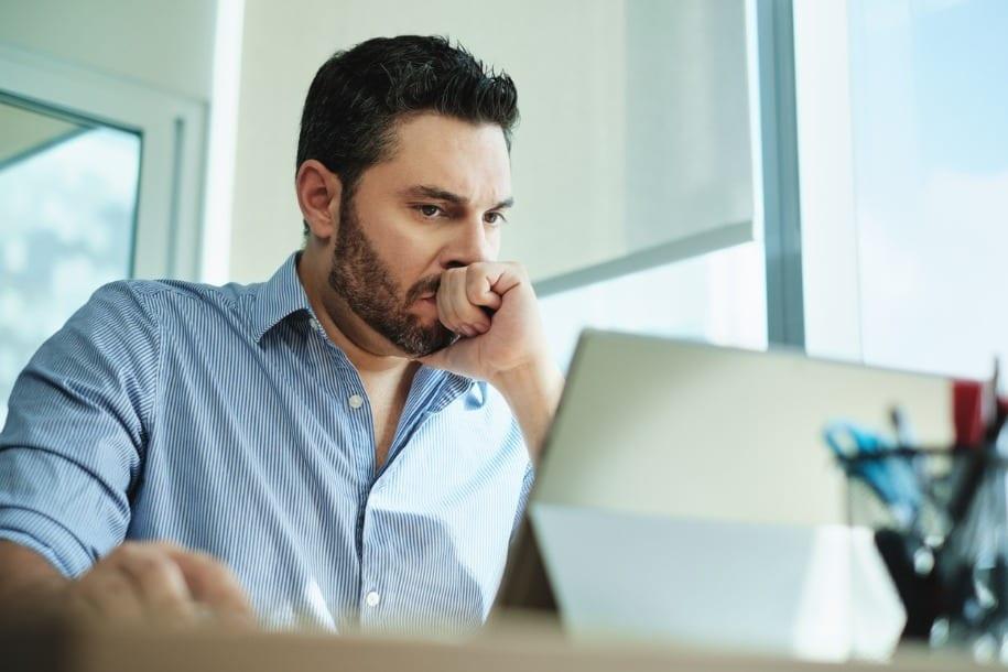 image of worried businessman